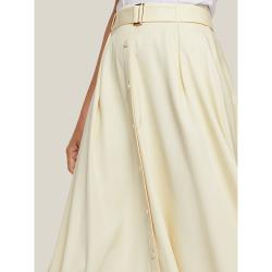 LAYEUR Cream Borden Button Down Maxi Skirt FR 34