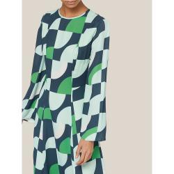 LAYEUR Green Wharton Fit and Flare Maxi Dress FR 34