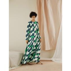 LAYEUR Green Wharton Fit and Flare Maxi Dress FR 42