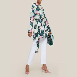 LAYEUR Multicoloured Reba Floral Print Wrap Tunic FR 46