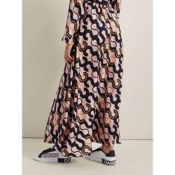 LAYEUR Pink Fitzgerald Button-Down Maxi Skirt FR 48
