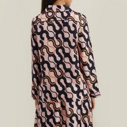 LAYEUR Pink Fitzgerald Printed Silk Pyjama Top FR 42