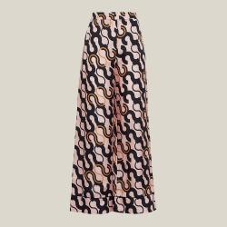 LAYEUR Pink Fitzgerald Printed Wide Leg Trousers FR 38