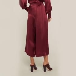 LAYEUR Red Mae High Waist Silk Culottes FR 48