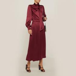 LAYEUR Red Mae High Waist Silk Culottes FR 48