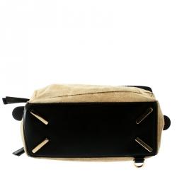 Loewe Beige Suede and Leather Puzzle Shoulder Bag