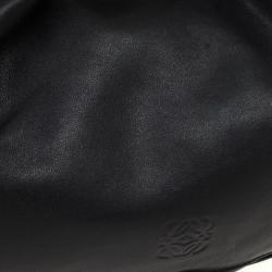 Loewe Polished Black Calfskin Flamenco 30 Shoulder Bag