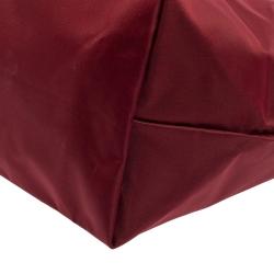 Longchamp Burgundy Nylon Le Pliage Tote