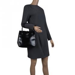 Longchamp Black Leather Mini Roseau Tote 675e9a96357e2