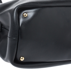 Longchamp Black Leather Honore Tote
