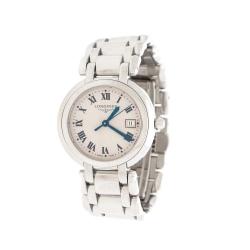 Longines Cream Stainless Steel Primaluna L8.112.4.71.6 Women's Wristwatch 30 mm