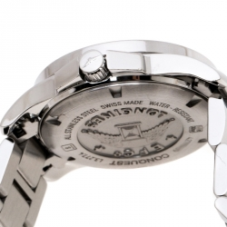 Longines Silver Stainless Steel Conquest L3.277.4 Women's Wristwatch 29 mm