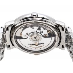 Longines White Stainless Steel Presence L4.821.4 Women's Wristwatch 34.50 mm