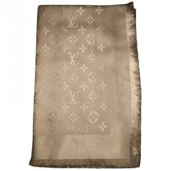 Louis Vuitton Dune Monogram Wool and Silk Shawl