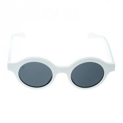 e498c7c4182fc Louis Vuitton x Supreme White   Grey Z0991W Downtown Round Sunglasses