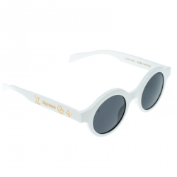 b5eb492524c78 Louis Vuitton x Supreme White   Grey Z0991W Downtown Round Sunglasses