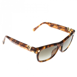 4d6dad4881b Louis Vuitton Honey Brown   Grey Z0901E Confidential Wayfarer Sunglasses