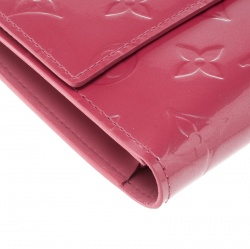 Louis Vuitton Framboise Monogram Vernis Portefeuille International Trifold Wallet