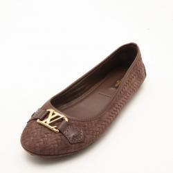 Louis Vuitton Suede Oxford Ballerina Flats Size 37.5