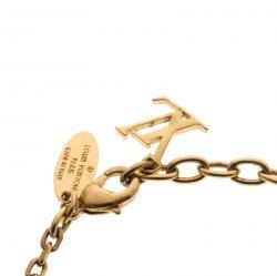 Louis Vuitton Monogram Gamble Dice Crystal Gold Tone Bracelet
