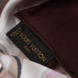 Louis Vuitton Mulitcolor Monogram Printed Silk Square Scarf