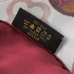 Louis Vuitton Multicolor Monogram Printed Silk Square Scarf