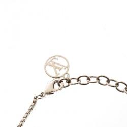 Louis Vuitton Faux Pearl Crystal Silver Tone Bracelet