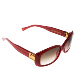 193422d0e4c Louis Vuitton Red Brown Gradient Soupcon Pomme D amour Z0076W Square  Sunglasses