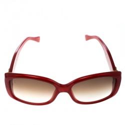 f90ec667fb5c Louis Vuitton Red Brown Gradient Soupcon Pomme D amour Z0076W Square  Sunglasses