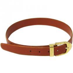 8275e5a78074 Louis Vuitton Gold Cipango Epi Leather Classic Ceinture Belt 85CM