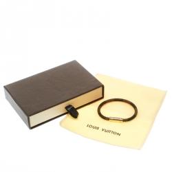 Louis Vuitton Keep It Damier Canvas Gold Tone Bracelet 16cm