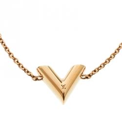 Louis Vuitton Essential V Gold Tone Bracelet
