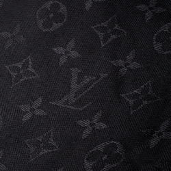 Louis Vuitton Black Monogram Wool and Silk Shine Shawl