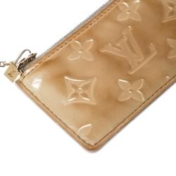 Louis Vuitton Cream Monogram Vernis Key Pouch