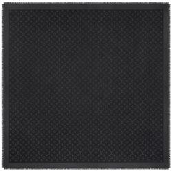 Louis Vuitton Charcoal Grey Monogram Silk and Wool Shawl