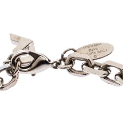 Louis Vuitton Crystal Love Letter Timeless Three Tone Charm Bracelet