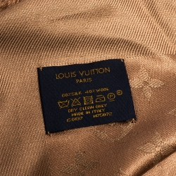 Louis Vuitton Cappuccino Wool & Silk Monogram Shawl