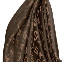 Louis Vuitton Brown Monogram Shine Shawl