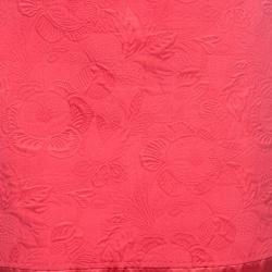Louis Vuitton Pink Cotton Silk Floral Embossed Jacquard Skirt M