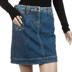 Louis Vuitton Denim Monogram Skirt