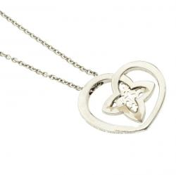 Louis Vuitton Coeur Diamond & 18K White Gold Chain Necklace