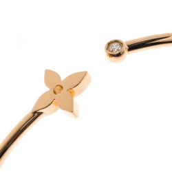 Louis Vuitton Idylle Blossom Diamond 18k Rose Gold Twist Bracelet 16cm