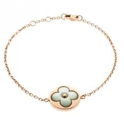 Louis Vuitton Color Blossom Sun Mother Of Pearl 18k Rose Gold Charm Bracelet