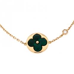Louis Vuitton Color Blossom BB Sun Malachite Diamond 18K Rose Gold Bracelet