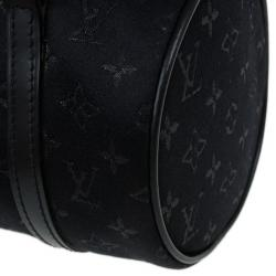 Louis Vuitton Black Monogram Satin Mini Papillon