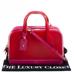 Louis Vuitton Red/Pink Leather Dora PM Bag