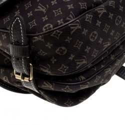 Louis Vuitton Fusain Monogram Mini Lin Saumur Shoulder Bag