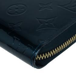 Louis Vuitton Green Monogram Vernis Zippy Wallet