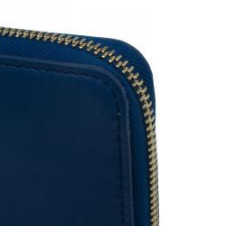 Louis Vuitton Blue Leather Limited Edition Flight Bags Paname Zippy Long Wallet