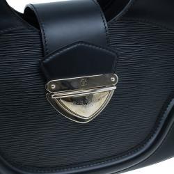 Louis Vuitton Black Epi Leather Sac Montaigne Satchel